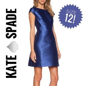 Kate space fit flare open back blue dress
